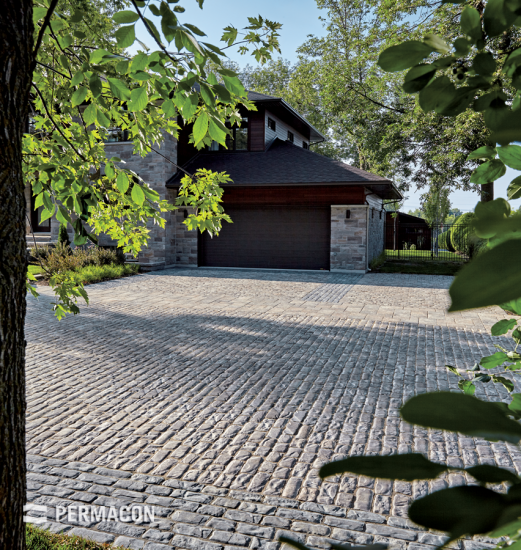 A vintage inspired driveway