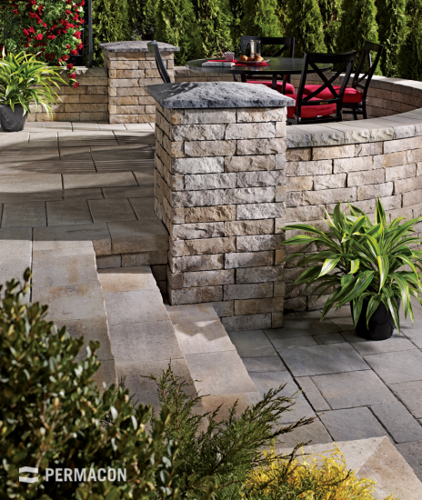 A majestic patio with completely curved design